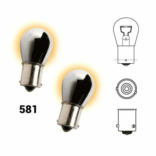 2x Indicator Bulbs Chrome Xenon Amber Orange To Fit Dodge Stealth
