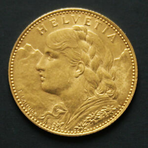 10-francs-or-Suisse-Vreneli-Gold-coin-Swiss-annees-variees-random-years