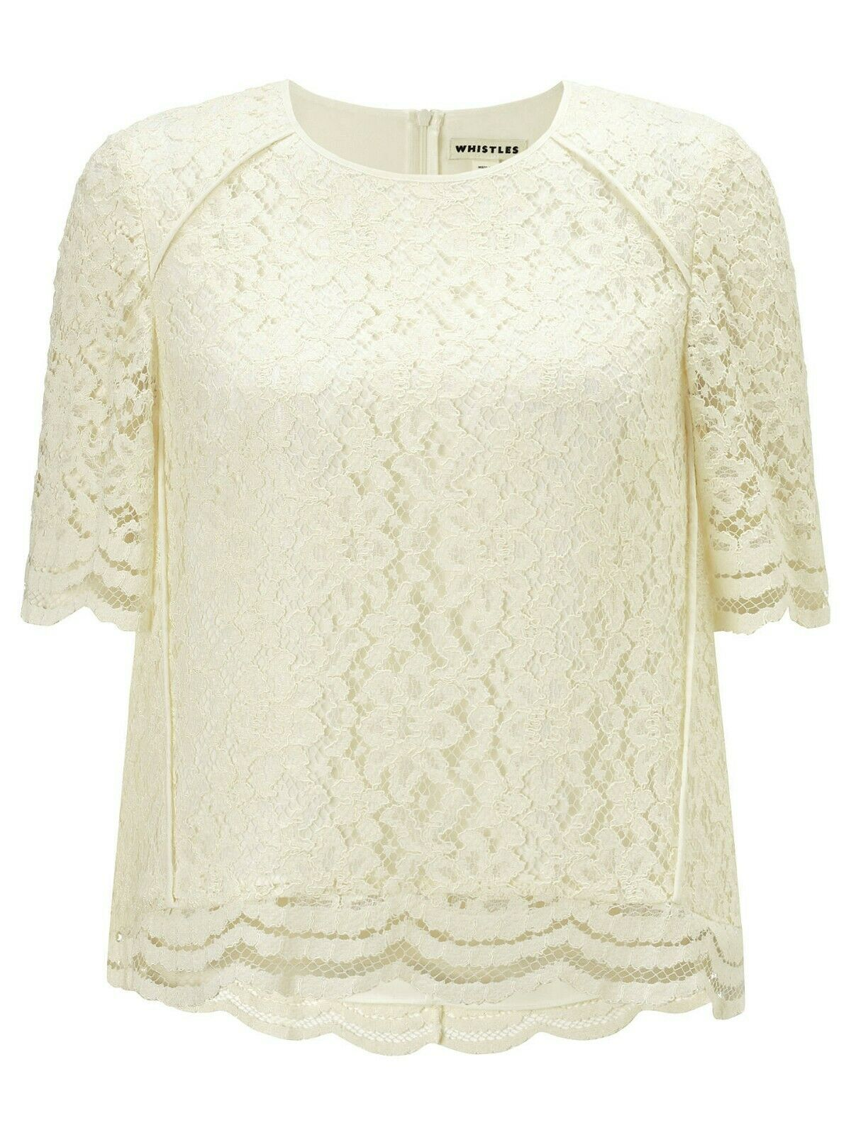 Whistles Leith pizzo bianco donna Top Camicetta-Taglia Camicetta-Taglia Camicetta-Taglia 65e457