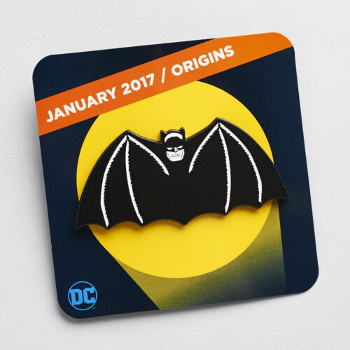 DC Comics Batman Origins Original Bat Winged Cape Logo Symbol Enamel Pin New