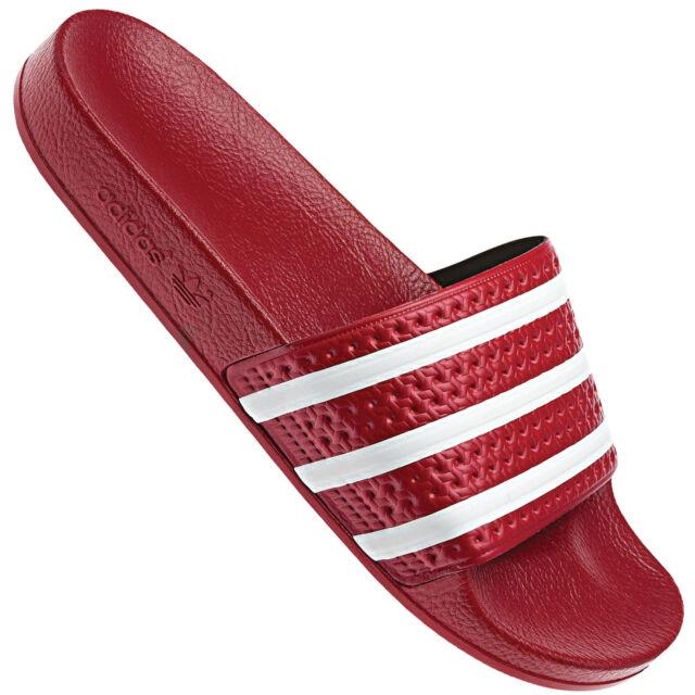 outlet store 85ab1 6640c Adidas Originals Adilette 280647 Sandali Unisex adulto Rosso 46