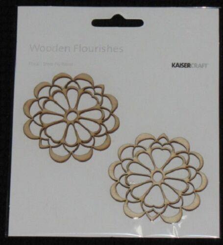 Kaisercraft Wooden Flourishes /'ASSORTED DESIGNS/' You choose KAISER *Clearance*