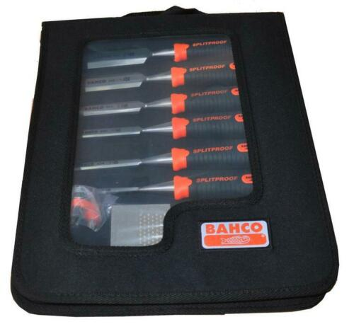 BAHCO 434 SPLITPROOF 6pce CHISEL SET IN ZIP-CASE WITH SHARPENING STONE AND GUIDE