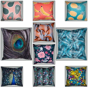 """17/"""" Soft velvet printed cushions with funky and contemporary printed designs"""