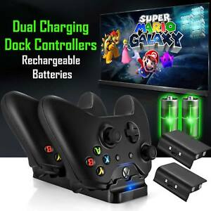 For-XBOX-ONE-Dual-Charging-Dock-Station-Controller-Charger-2-Extra-Battery-Packs