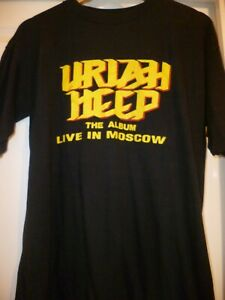 Vintage Uriah Heep Live In Moscow Concert T Shirts L Xl Red Sz 40 Black Sz 44 Ebay