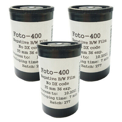 Negative film ISO 400 Svema unopened bw films. lomo 10 rolls of Astrum Foto-400 35mm black and white film