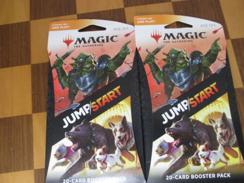MTG Jumpstart Booster Magic the Gathering Two 20 Card Sealed Packs WotC NEW
