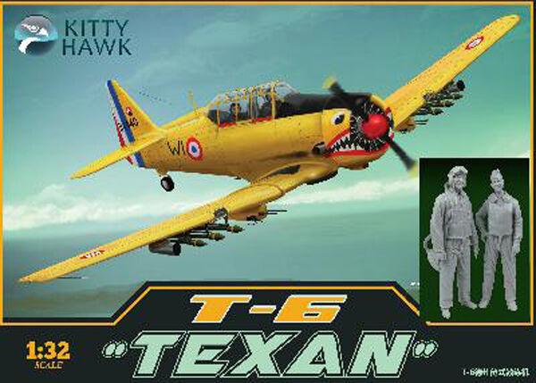 T-6G  TEXAN  ARMÉE DE L'AIR FRANCAISE - KIT KITTY-HAWK 1 32 N° 32002