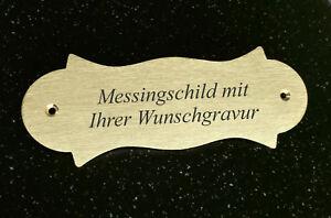 MESSINGSCHILD-Tuerschid-geschwungen-147x54mm-mit-Ihrer-WUNSCHGRAVUR