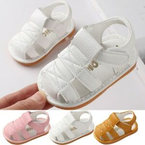 Newborn-Baby-Kids-Girls-Boys-Roman-Shoes-Sandals-First-Walker-Soft-Sole-Shoes-UK