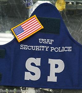 Details about USAF SECURITY POLICE BLUE ARMBAND BRASSARD & US COLOR FLAG  AIR FORCE PD