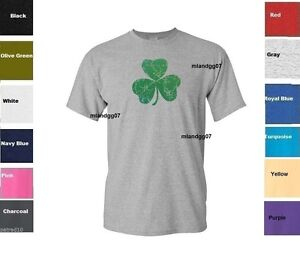 2XL New Irish Leaf T-shirt Green Basic Tee Various sizes S