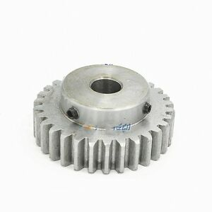 45# Steel Spur Pinion Gear 1.5Mod 30T Outer Dia 48mm Bore 15mm x 1Pcs