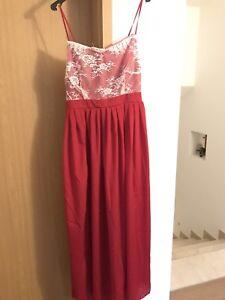 Abendkleid in rot, Corsage, Brautmutter, lang Gr. 42/44   eBay
