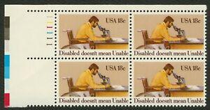 #1925 18c Disabled No Mean Imposible,Plt Negro [1 Ul ],Nuevo Cualquier 4 = Libre