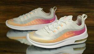 Details About Nike Air Max Axis Prem White Melon Fuchsia Bq0126 101 Running Shoes Women S New