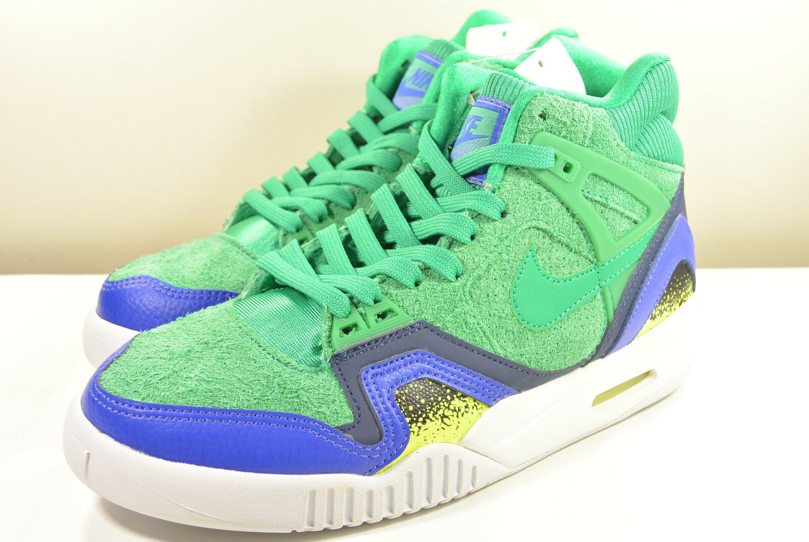 DS TECH NIKE 2016 SAMPLE AIR TECH DS CHALLENGE II STADIUM GREEN 7 AGASSI MAX TRAINER 88ca99