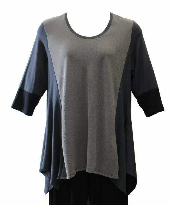 Alembika Metal A-line Tunic Top  NWT  made in Israel  Größe 8