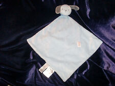 Precious Firsts Carter's Puppy Dog Security Blanket Blue Gray Lovey Baby Rattle