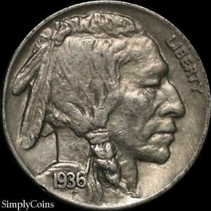 1936-Indian-Head-Buffalo-Nickel-XF-Extremely-Fine-US-Coin