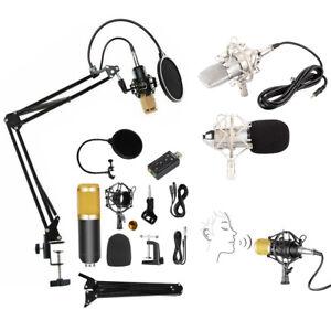 Professional Studio Condenser Microphone Kit Recording Broadcasting Shock Mount