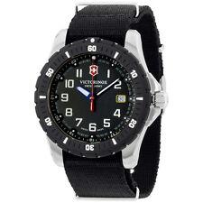 Victorinox Silicone Strap Analog Display Swiss Quartz Black Men's Watch 2416741
