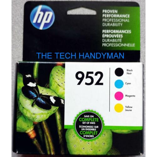 4-PACK HP GENUINE 952 Black /& Color Ink RETAIL BOX OFFICEJET PRO 8200 8210