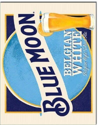 Blue Moon Craft Brew Draft Beer Vintage Retro Logo Bar Wall Art Decor Metal Sign