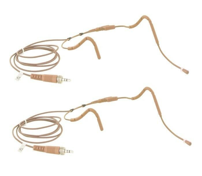 2pcs Cocoa Farbe Sweat Resistant Headset Mic for Sennheiser Wireless EW100 G2 G3