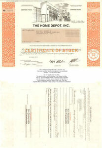 The-Home-Depot-gt-collectible-stock-certificate-share