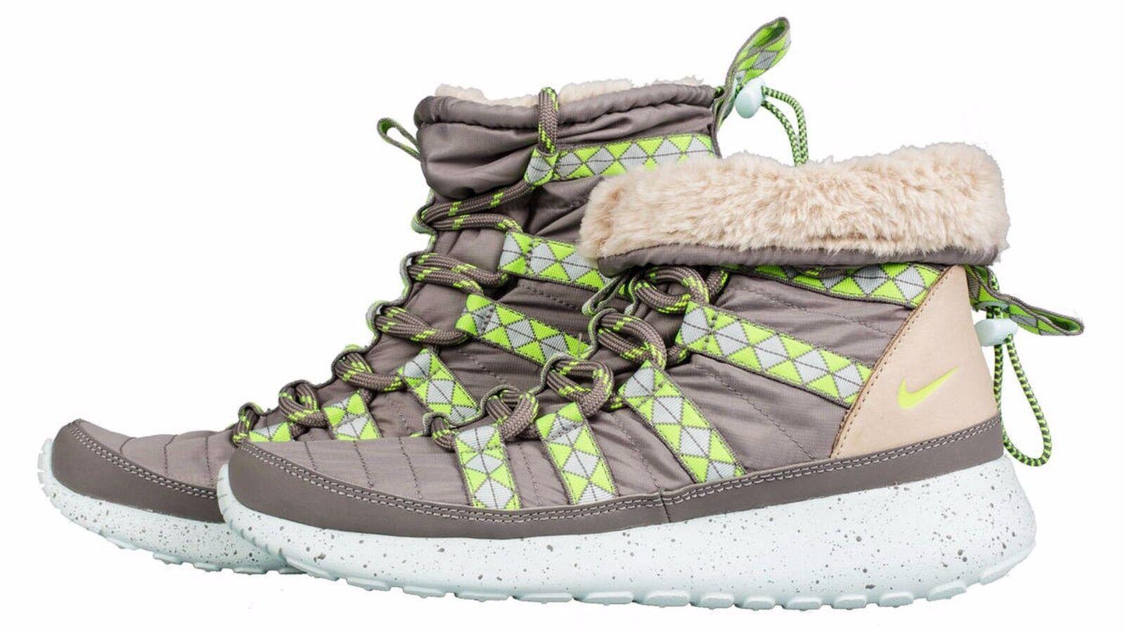 Nike Rosherun Hi Sneakerboot Print  Sz 7.5 Wmn 616724-001 Grey Volt