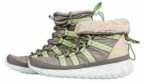 dbaa7fdb9a23a Nike Rosherun Hi Sneakerboot Print Sz 8.5 Wmn 616724-001 Grey Volt ...
