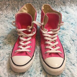 ed7f5b70346a Converse Womens Sz 10 All Star HighTop Sneaker Chuck Taylor Neon ...