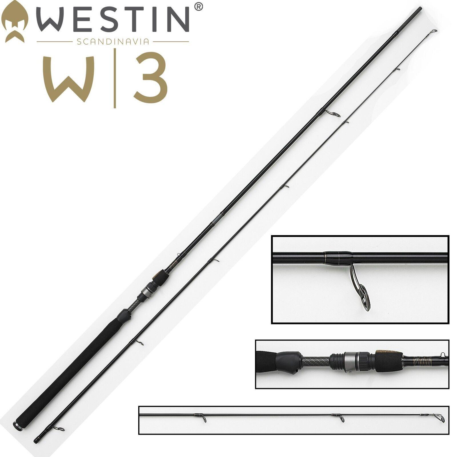 Westin W3 Spinnrute Powerlure 240cm H 20-60g, Blinkerrute für Hecht und Zander
