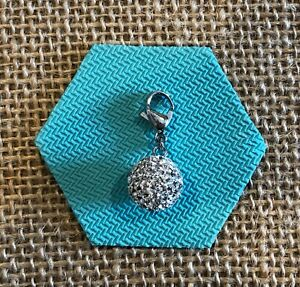 NEW Authentic Origami Owl Silver Sparkle Ball Crystal Dangle - Retired & RARE!!!