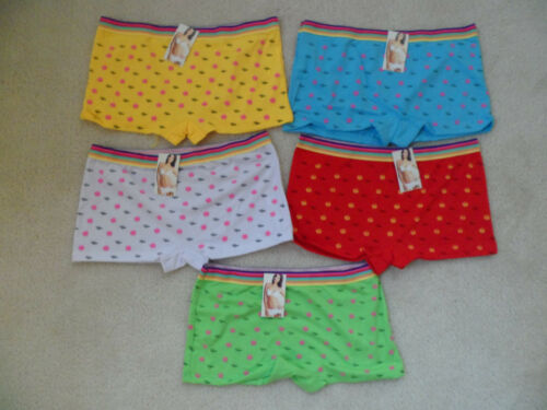 Lot 5 PCs Women Girls Cotton Boyshort Underwear Panties New