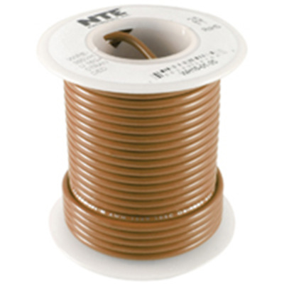 Yellow 100 Length Stranded Type 18 Gauge NTE Electronics WH18-04-100 Hook Up Wire