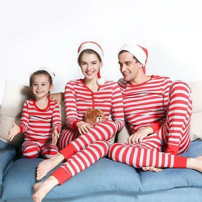 Christmas! Multiple Sizes Trustful Patpat Red/grey Striped 2-piece Matching Pajamas