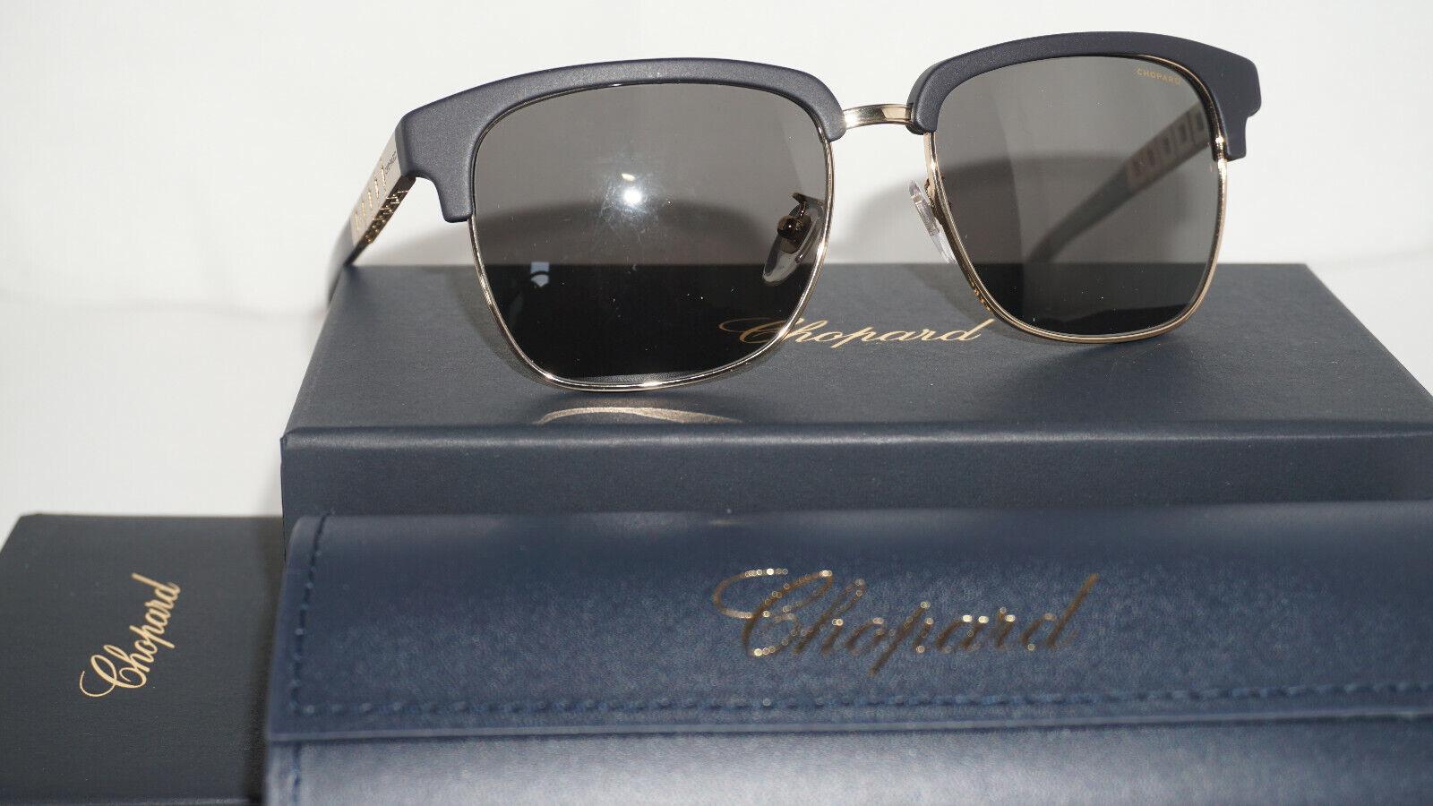 Chopard Sunglasses New Gold Polished Black Polarized SCHB30 300Z 55 17 140