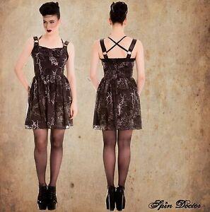 Black-Gothic-Dress-Harness-Spiderweb-Lightening-mini-Goth-S-M-L-UK-10-12