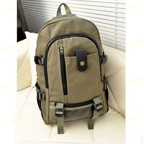 Retro Herren Canvas Rucksack Messengertasche Schultertasche Schulranzen Militär