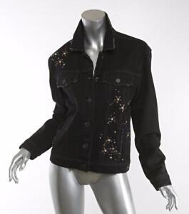 3070f4e819d00 Rosie HW x PAIGE JOSEPHINE Black Denim Jean Jacket - NOIR STAR ...