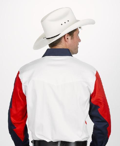 ¡Nuevo  Hombre Hombre Hombre Programa Western Camiseta Roja,Blanco y Azul Marino c1bd7a