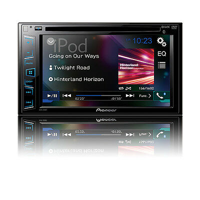 "Pioneer Double 2 Din AVH-290BT RB DVD/MP3/CD Player 6.2"" Touchscreen Bluetooth"