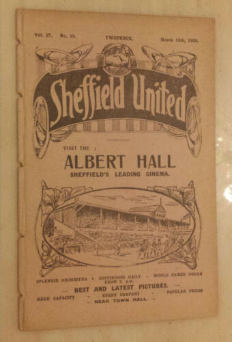 192324 Football League Programme SHEFFIELD UNITED v HUDDERSFIELD TOWN