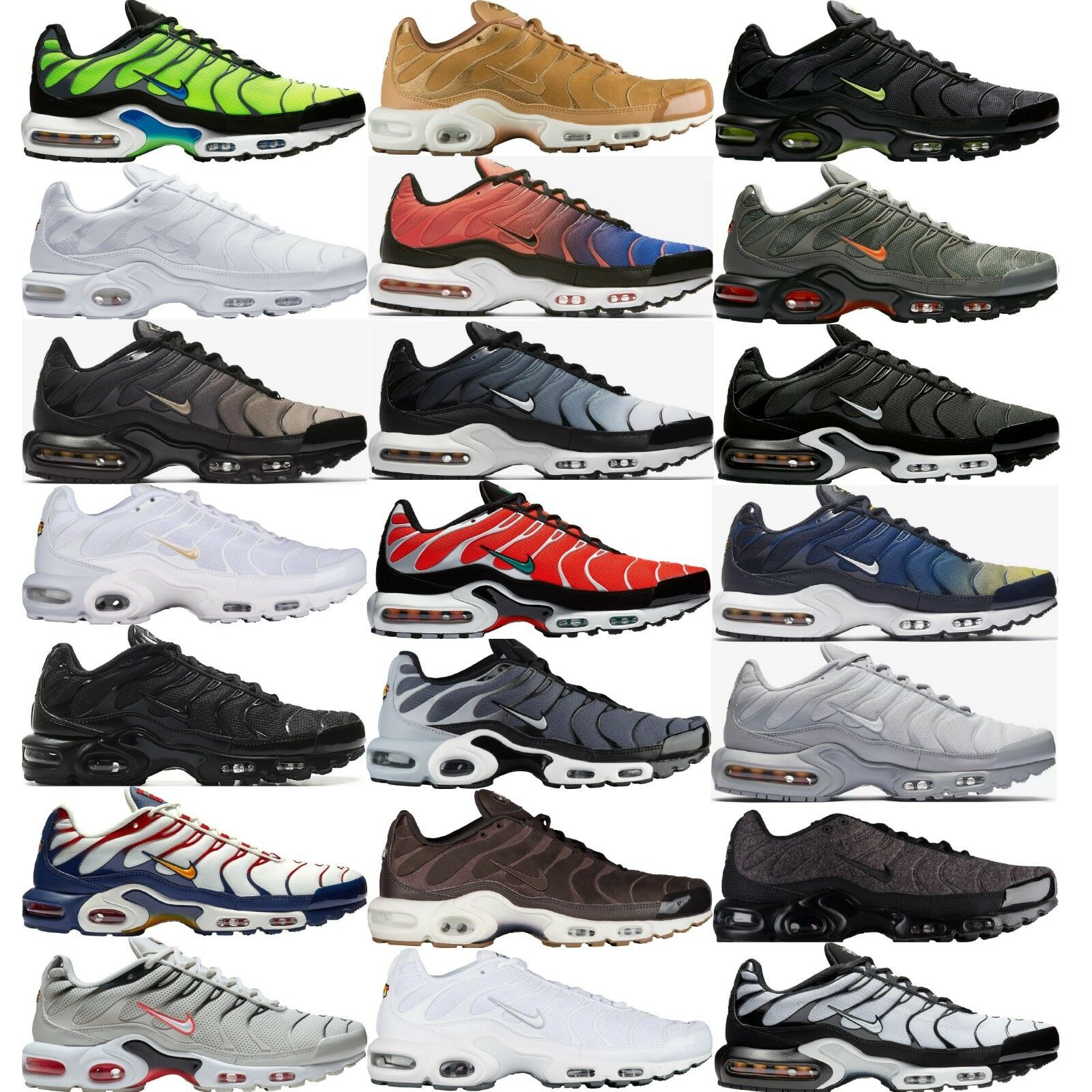 NIKE AIR MAX PLUS Tn Tuned Air MEN'S PREMIUM SNEAKERS LIFESTYLE COMFY SHOES Brand discount
