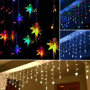 96-LED-Star-Hanging-Curtain-String-Lights-Fairy-Lamps-Santa-Christmas-Decoration