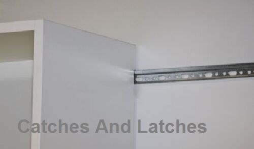 Wardrobe Organisers 2 X Hanging Rail, Kitchen Wall Cabinet Mounting Brackets