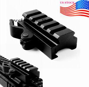 US-Tactical-5-Slots-QD-Adapter-For-20mm-Picatinny-Rail-Scope-Mount-Riser-Mount